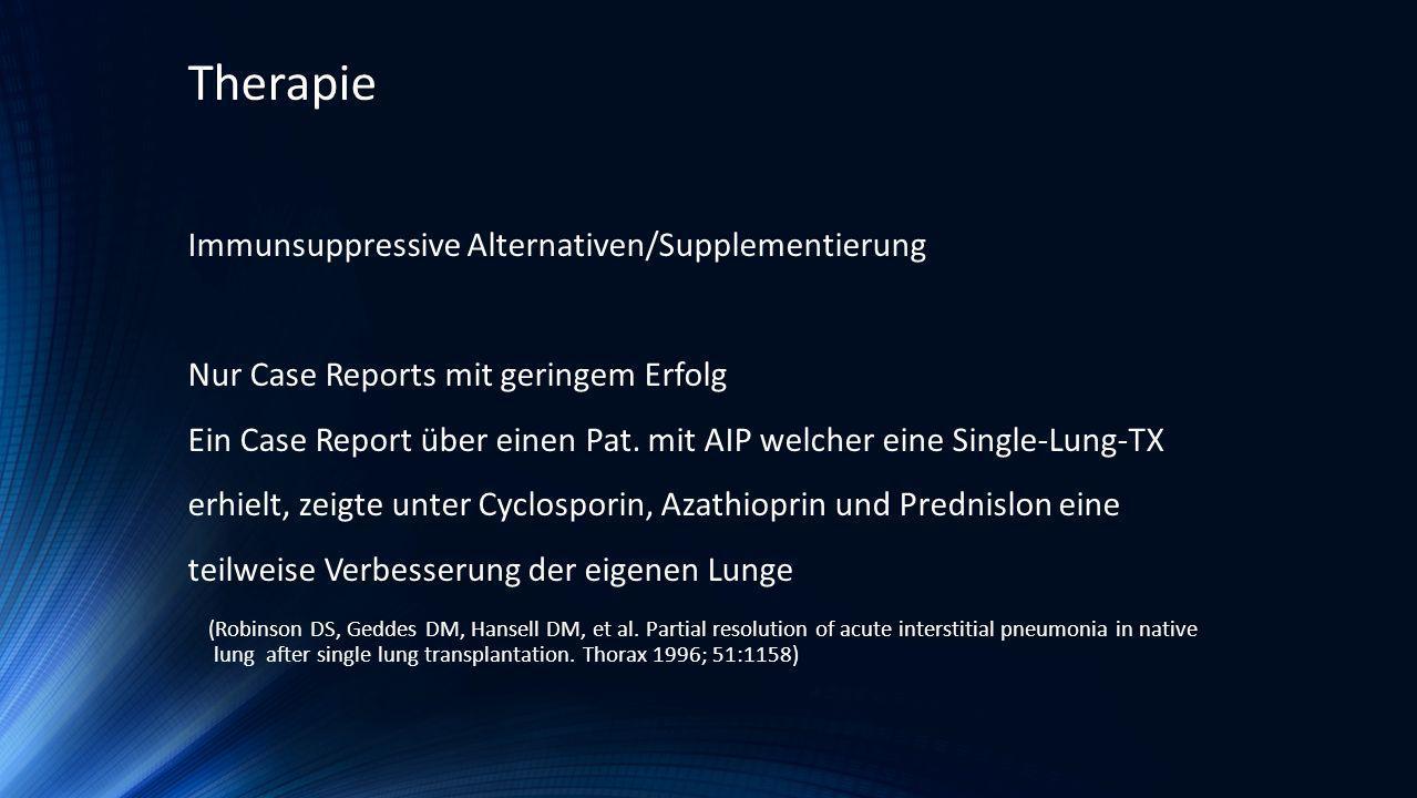 Therapie Immunsuppressive Alternativen/Supplementierung