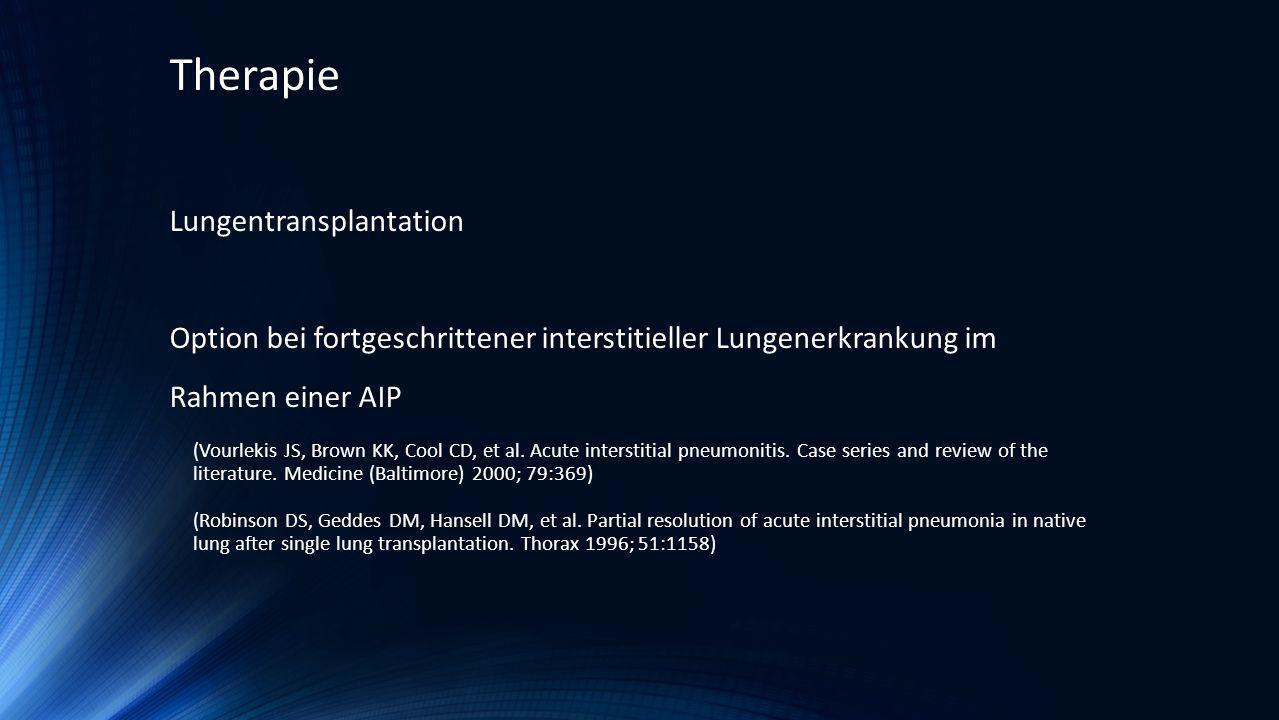 Therapie Lungentransplantation