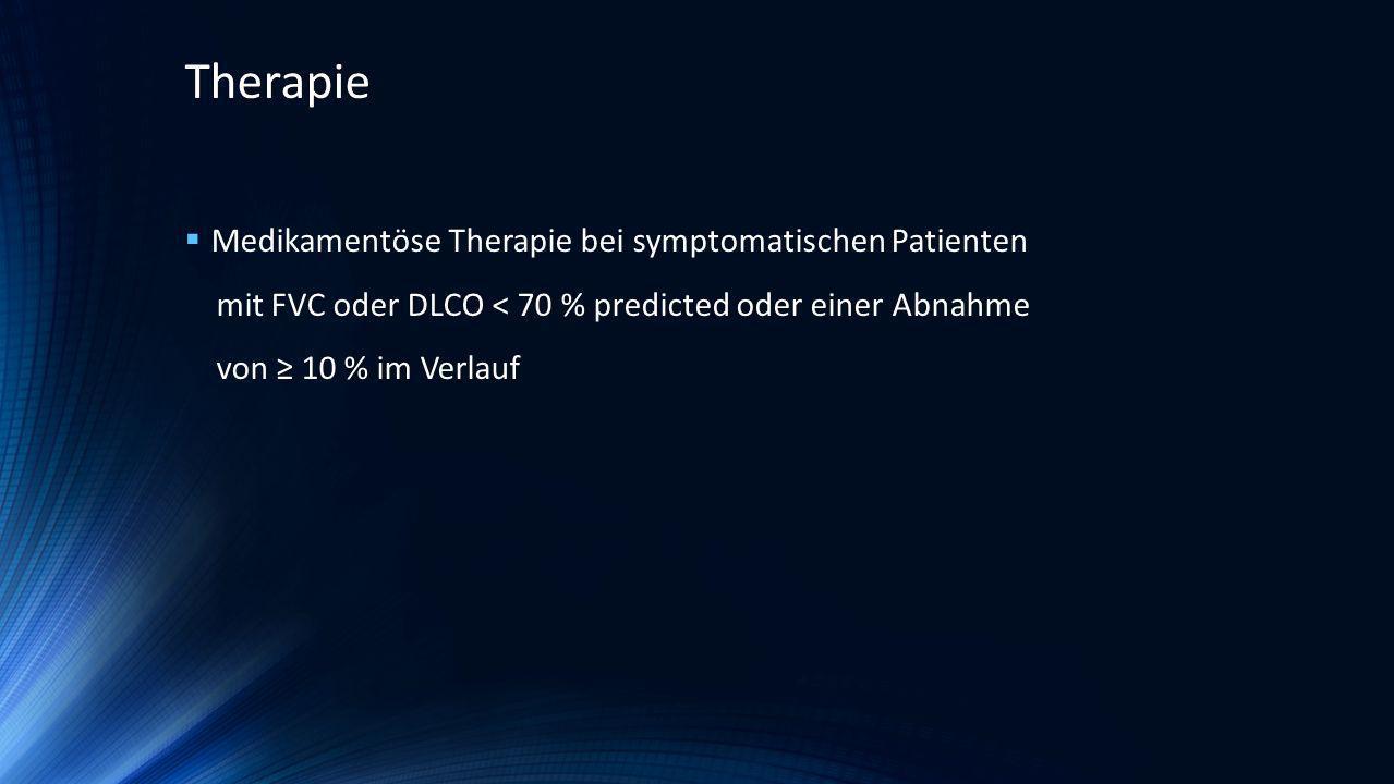 Therapie Medikamentöse Therapie bei symptomatischen Patienten