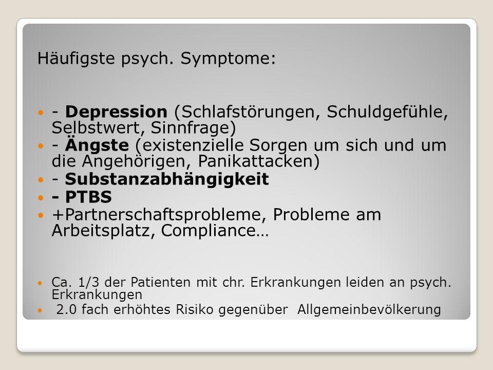 Häufigste psych. Symptome:
