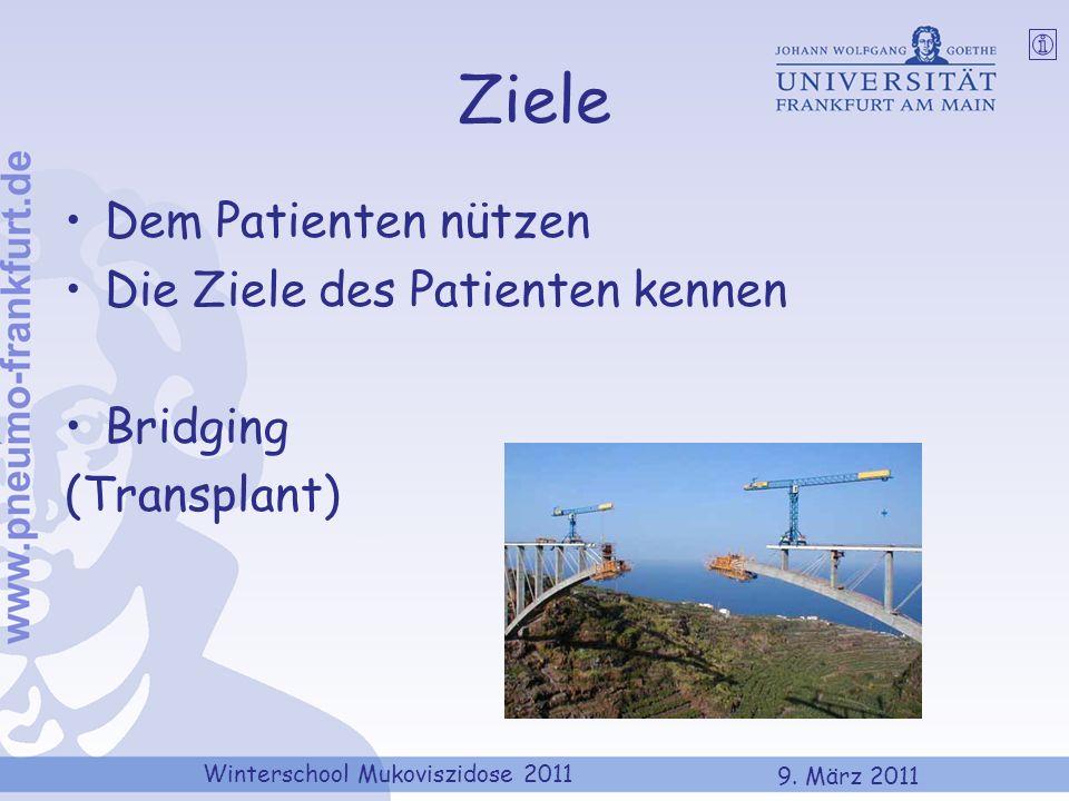 Ziele Dem Patienten nützen Die Ziele des Patienten kennen Bridging
