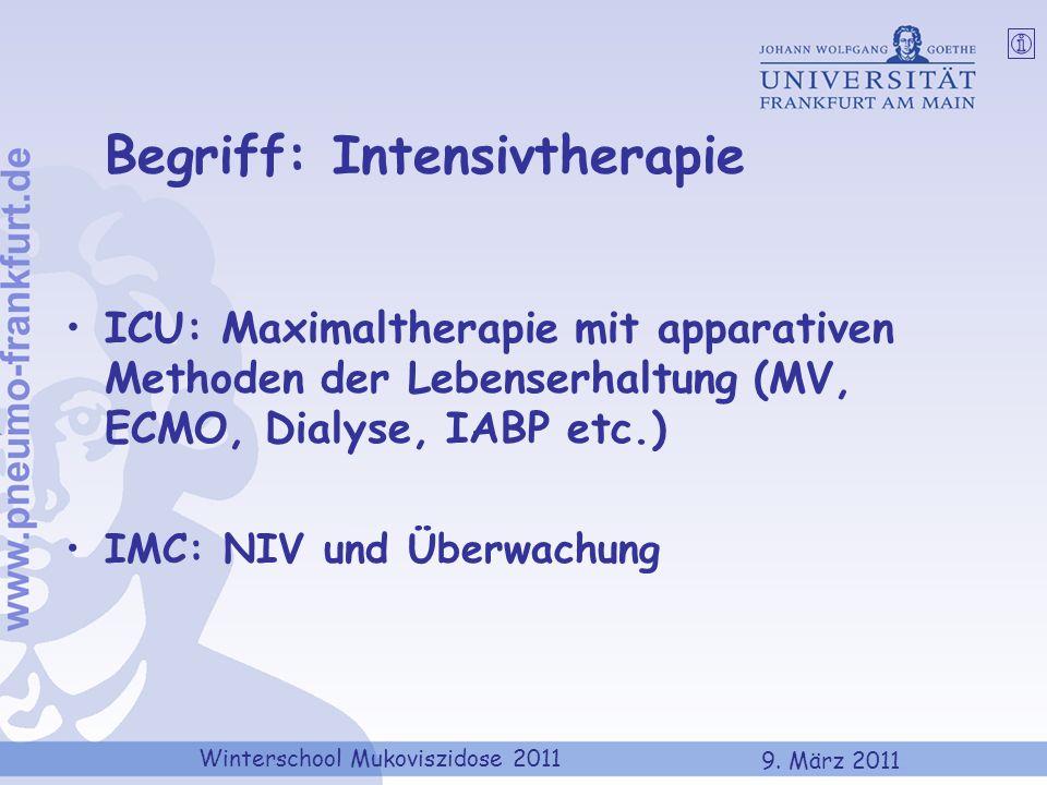 Begriff: Intensivtherapie