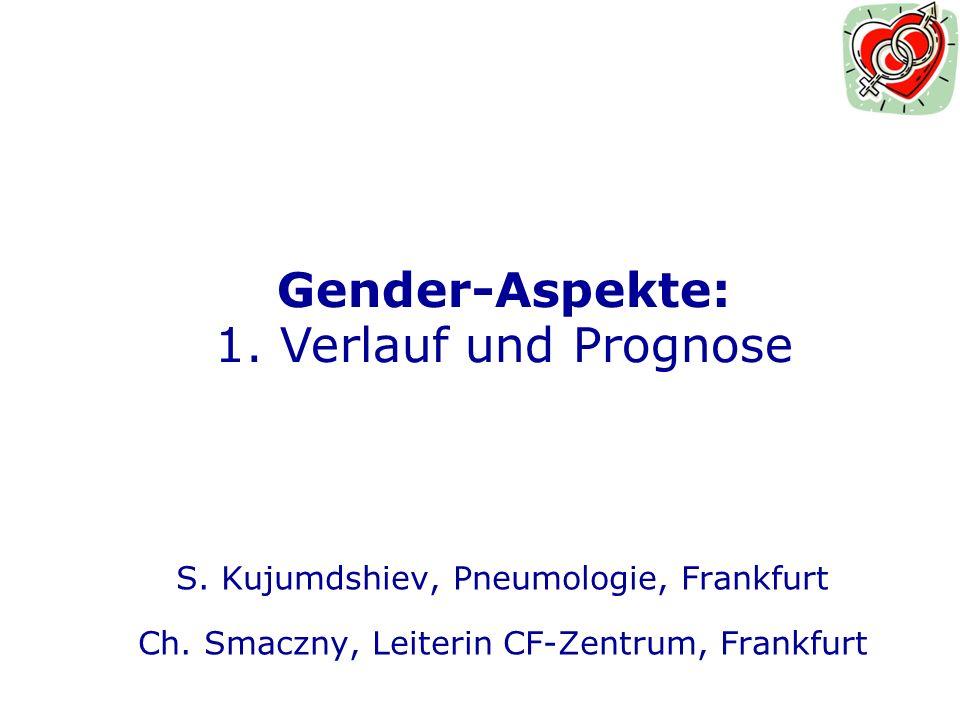 Gender-Aspekte: 1. Verlauf und Prognose