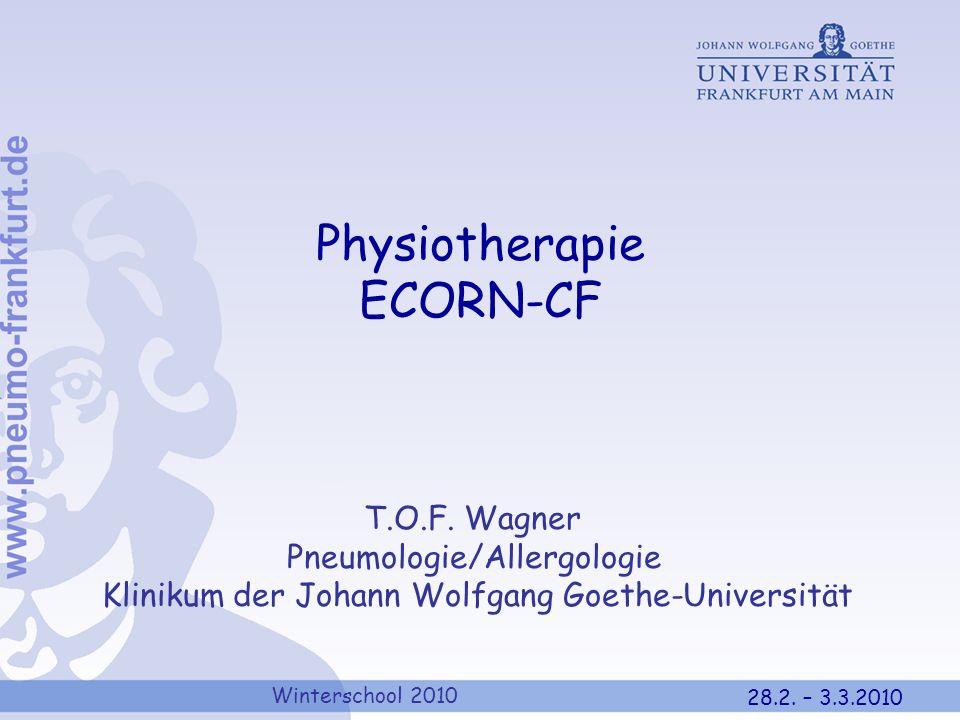 Physiotherapie ECORN-CF T.O.F. Wagner Pneumologie/Allergologie
