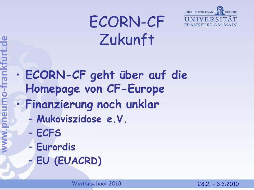 ECORN-CF Zukunft ECORN-CF geht über auf die Homepage von CF-Europe
