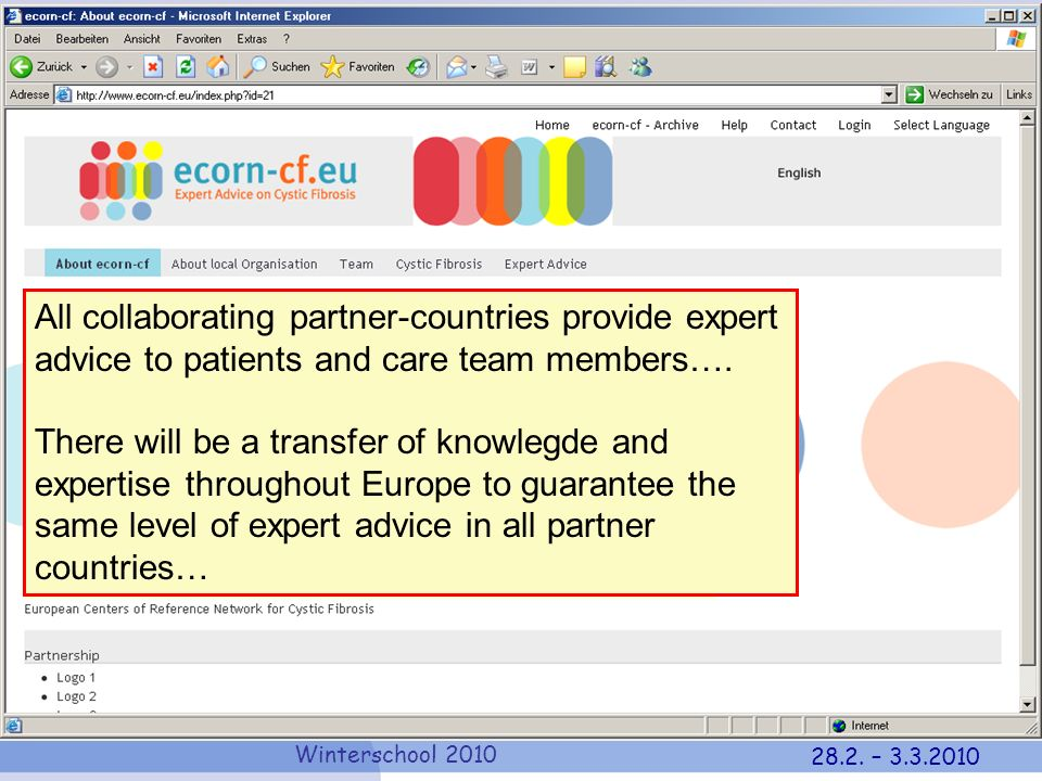 All collaborating partner-countries provide expert advice to patients and care team members….