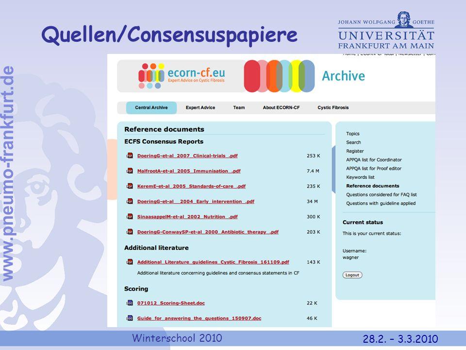 Quellen/Consensuspapiere