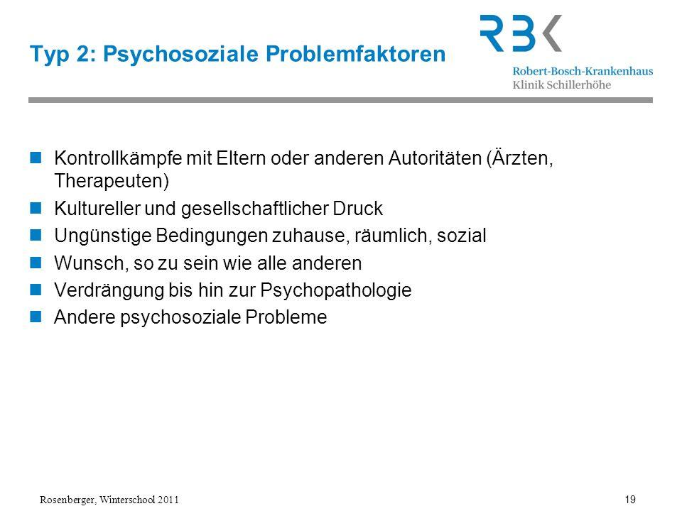Typ 2: Psychosoziale Problemfaktoren