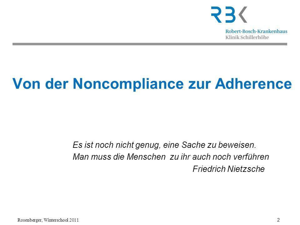 Von der Noncompliance zur Adherence
