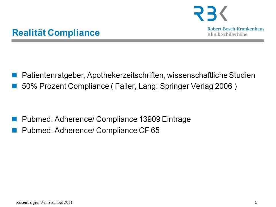 Realität CompliancePatientenratgeber, Apothekerzeitschriften, wissenschaftliche Studien.