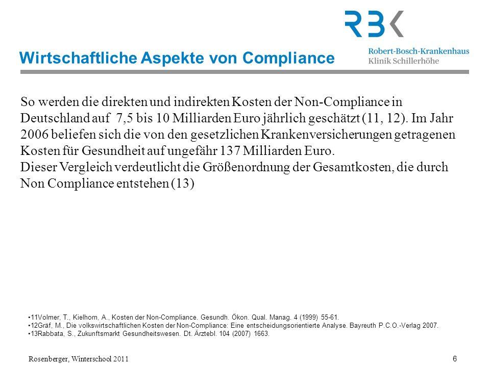 Wirtschaftliche Aspekte von Compliance