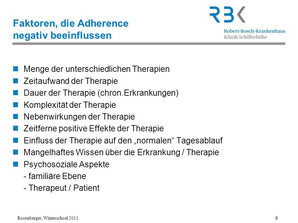 Faktoren, die Adherence negativ beeinflussen