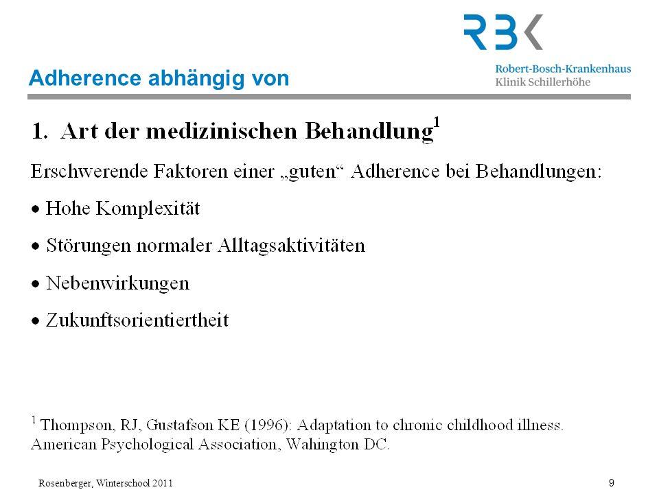 Adherence abhängig von