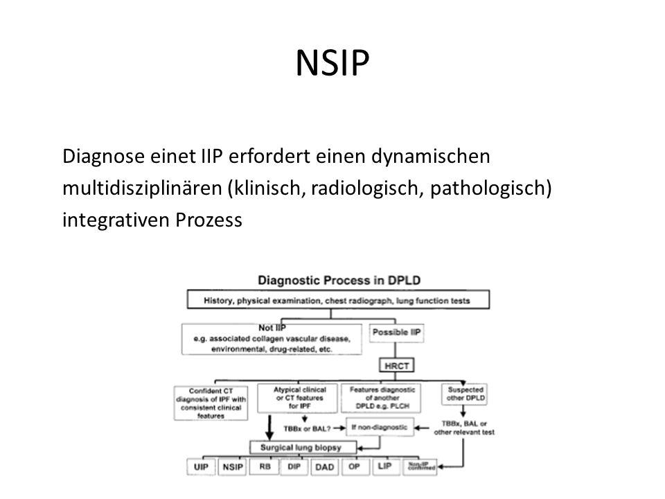 NSIP Diagnose einet IIP erfordert einen dynamischen multidisziplinären (klinisch, radiologisch, pathologisch) integrativen Prozess