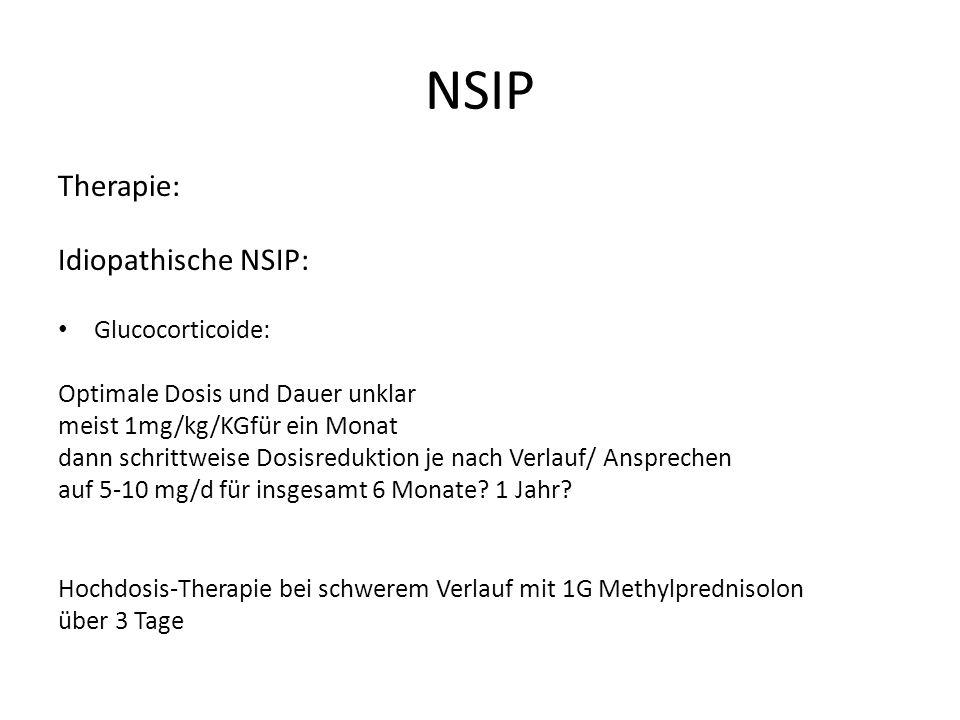 NSIP Therapie: Idiopathische NSIP: Glucocorticoide: