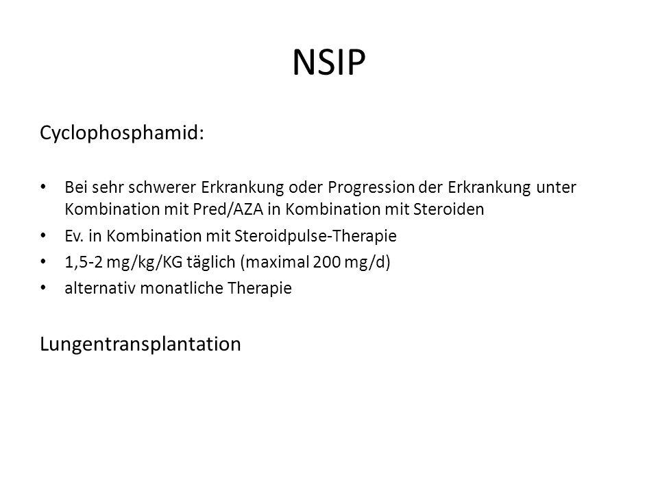 NSIP Cyclophosphamid: Lungentransplantation