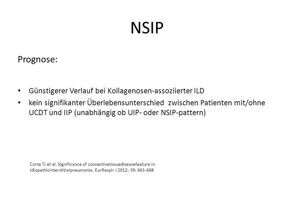 NSIP Prognose: Günstigerer Verlauf bei Kollagenosen-assoziierter ILD