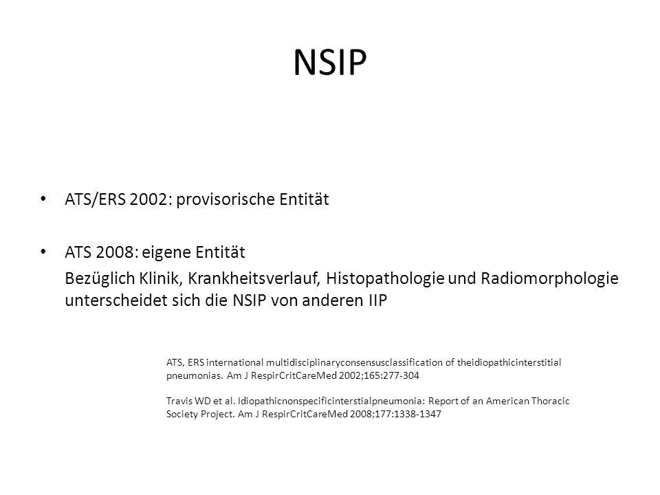 NSIP ATS/ERS 2002: provisorische Entität ATS 2008: eigene Entität