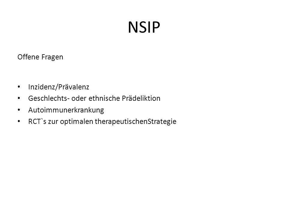 NSIP Offene Fragen Inzidenz/Prävalenz