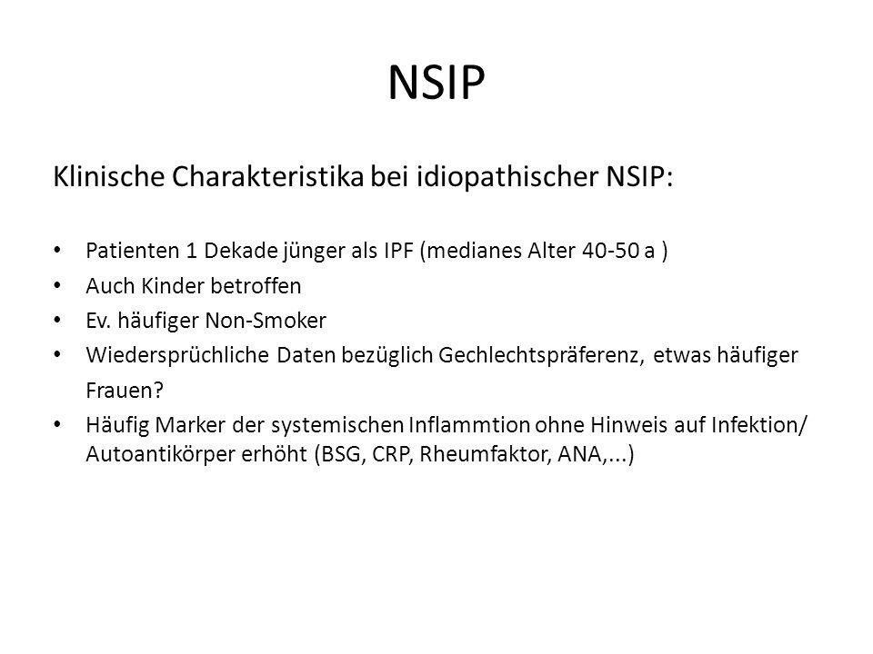 NSIP Klinische Charakteristika bei idiopathischer NSIP: