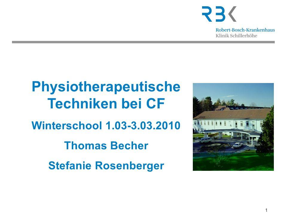 Physiotherapeutische Techniken bei CF