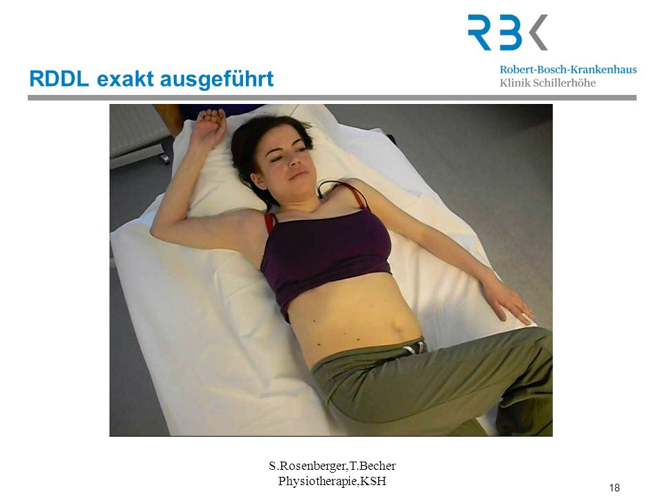 RDDL exakt ausgeführt S.Rosenberger,T.Becher Physiotherapie,KSH