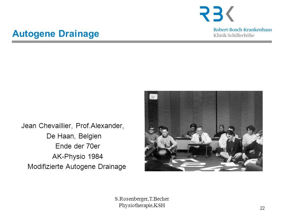 Autogene Drainage Jean Chevaillier, Prof.Alexander, De Haan, Belgien