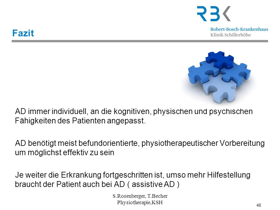 S.Rosenberger, T.Becher Physiotherapie,KSH