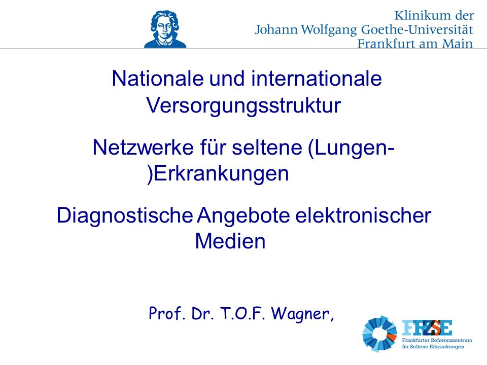 Nationale und internationale Versorgungsstruktur