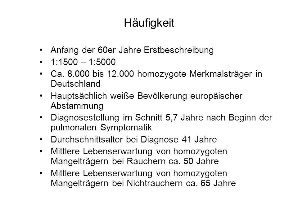 Häufigkeit Anfang der 60er Jahre Erstbeschreibung 1:1500 – 1:5000