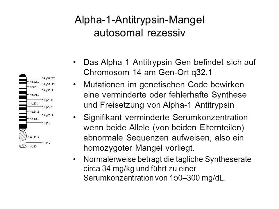 Alpha-1-Antitrypsin-Mangel autosomal rezessiv