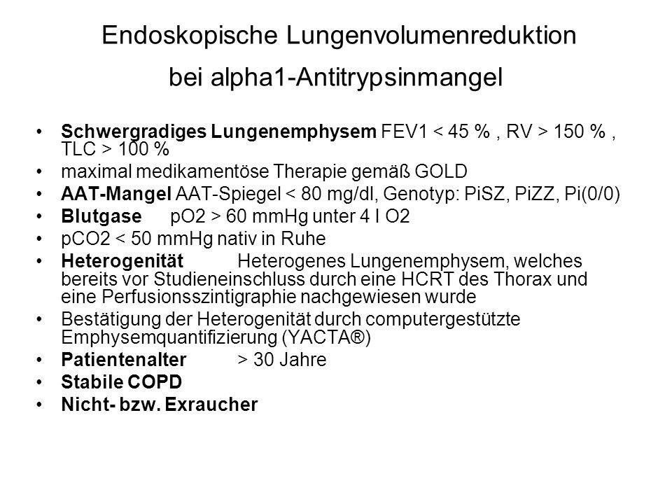 Endoskopische Lungenvolumenreduktion bei alpha1-Antitrypsinmangel