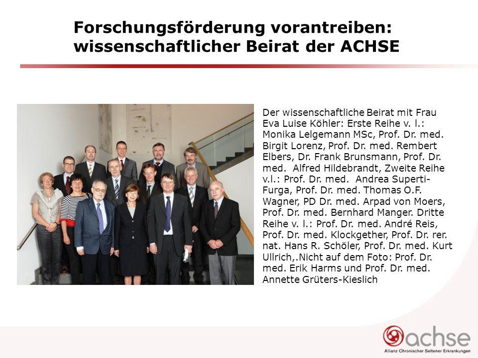 Forschungsförderung vorantreiben: wissenschaftlicher Beirat der ACHSE