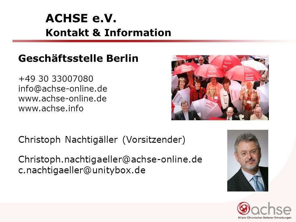 ACHSE e.V. Kontakt & Information