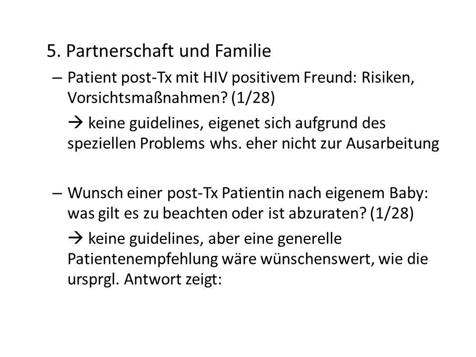 5. Partnerschaft und Familie