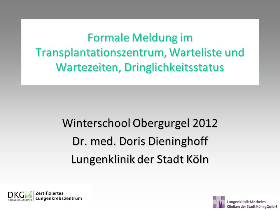 Winterschool Obergurgel 2012 Dr. med. Doris Dieninghoff