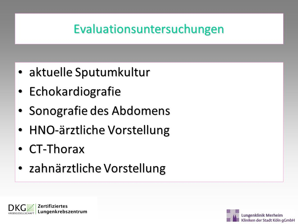 Evaluationsuntersuchungen