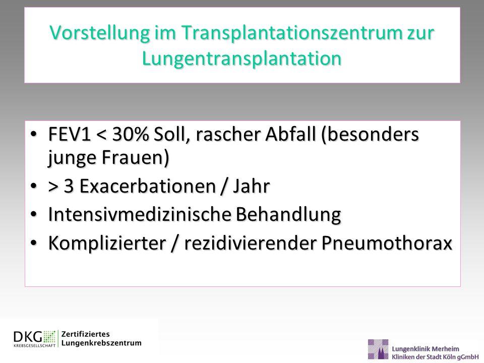 Vorstellung im Transplantationszentrum zur Lungentransplantation