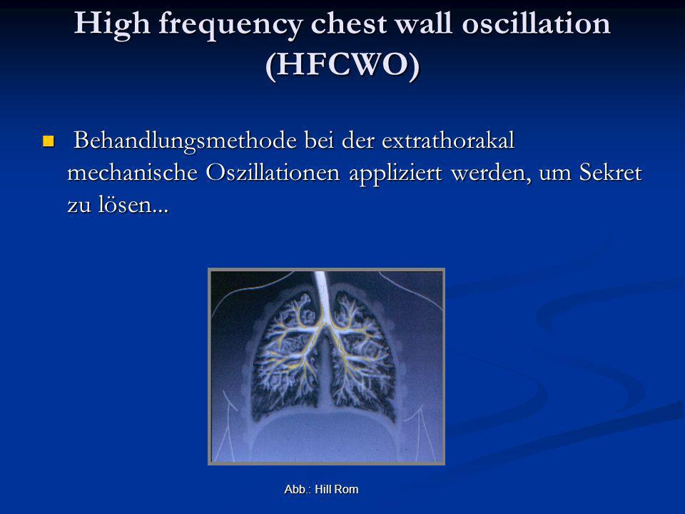 High frequency chest wall oscillation (HFCWO)