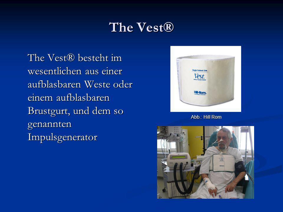 The Vest® The Vest® besteht im wesentlichen aus einer aufblasbaren Weste oder einem aufblasbaren Brustgurt, und dem so genannten Impulsgenerator.