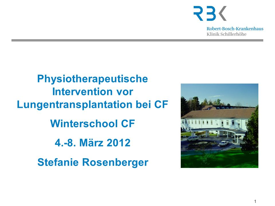 Physiotherapeutische Intervention vor Lungentransplantation bei CF