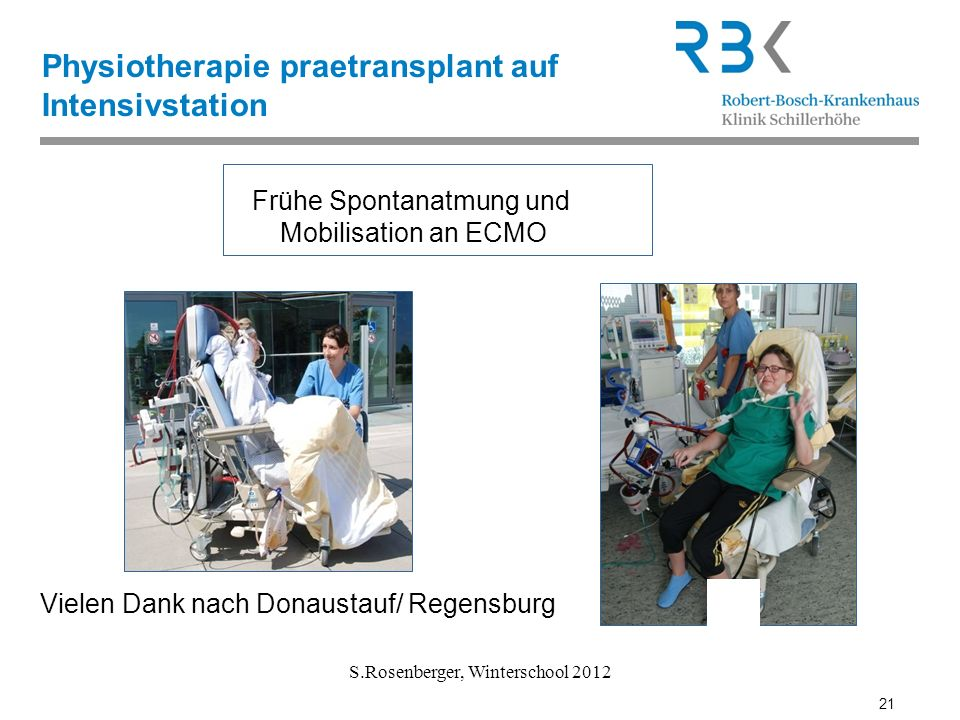 Physiotherapie praetransplant auf Intensivstation