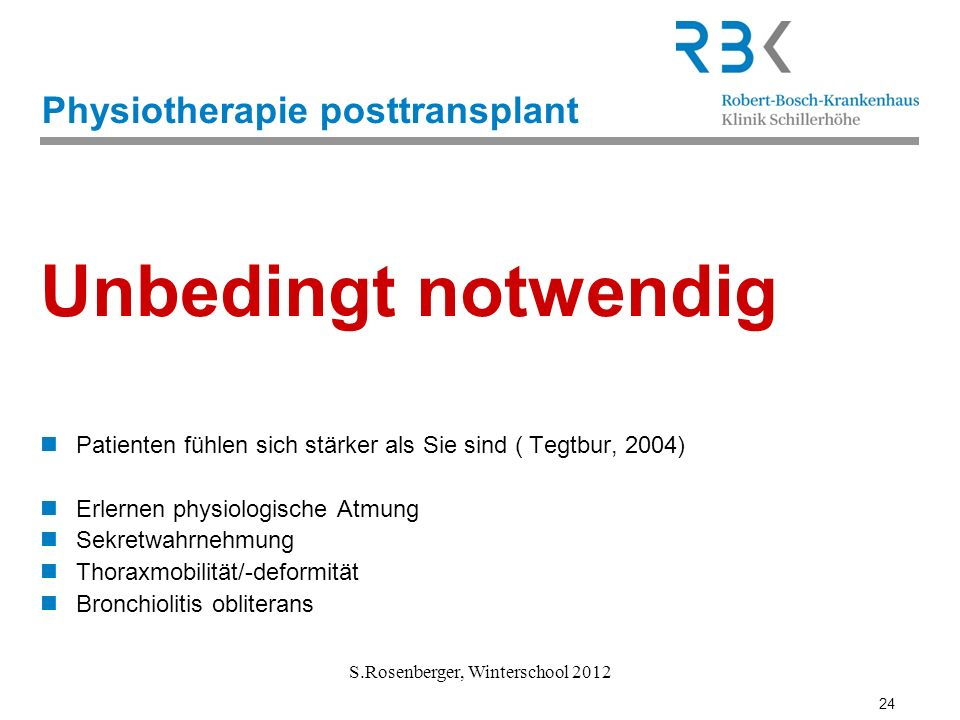 Physiotherapie posttransplant