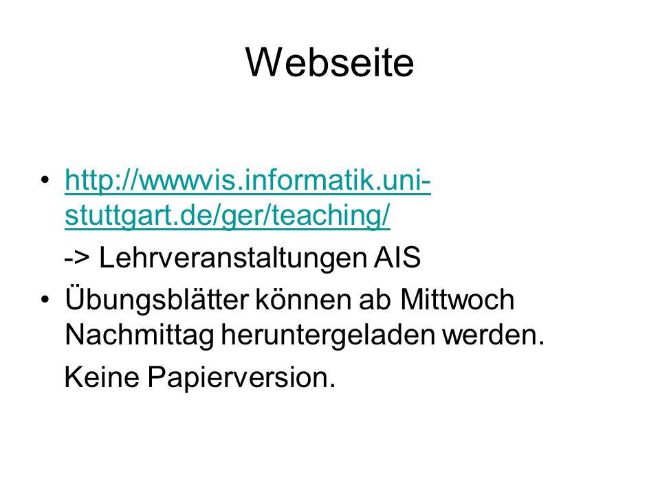 Webseite http://wwwvis.informatik.uni-stuttgart.de/ger/teaching/