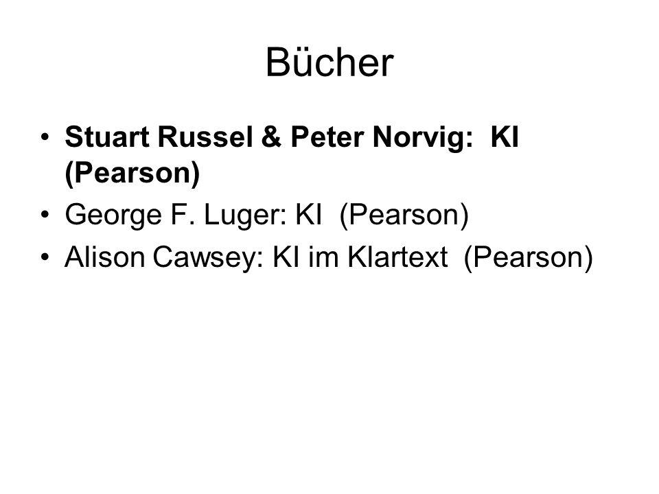Bücher Stuart Russel & Peter Norvig: KI (Pearson)