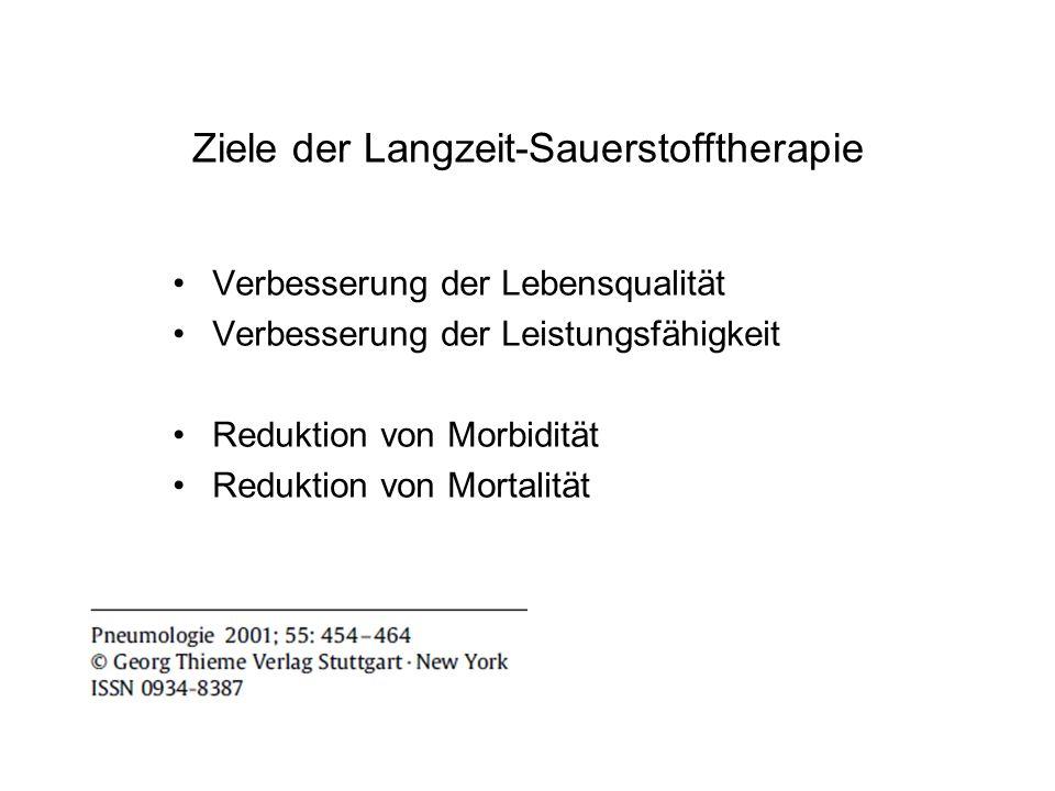 Ziele der Langzeit-Sauerstofftherapie