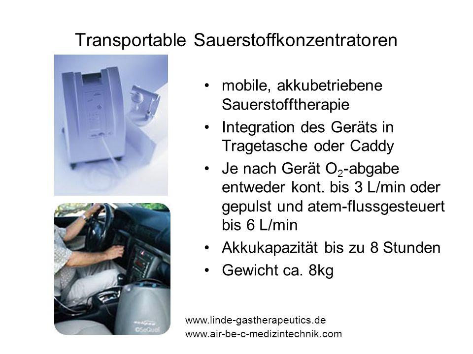 Transportable Sauerstoffkonzentratoren