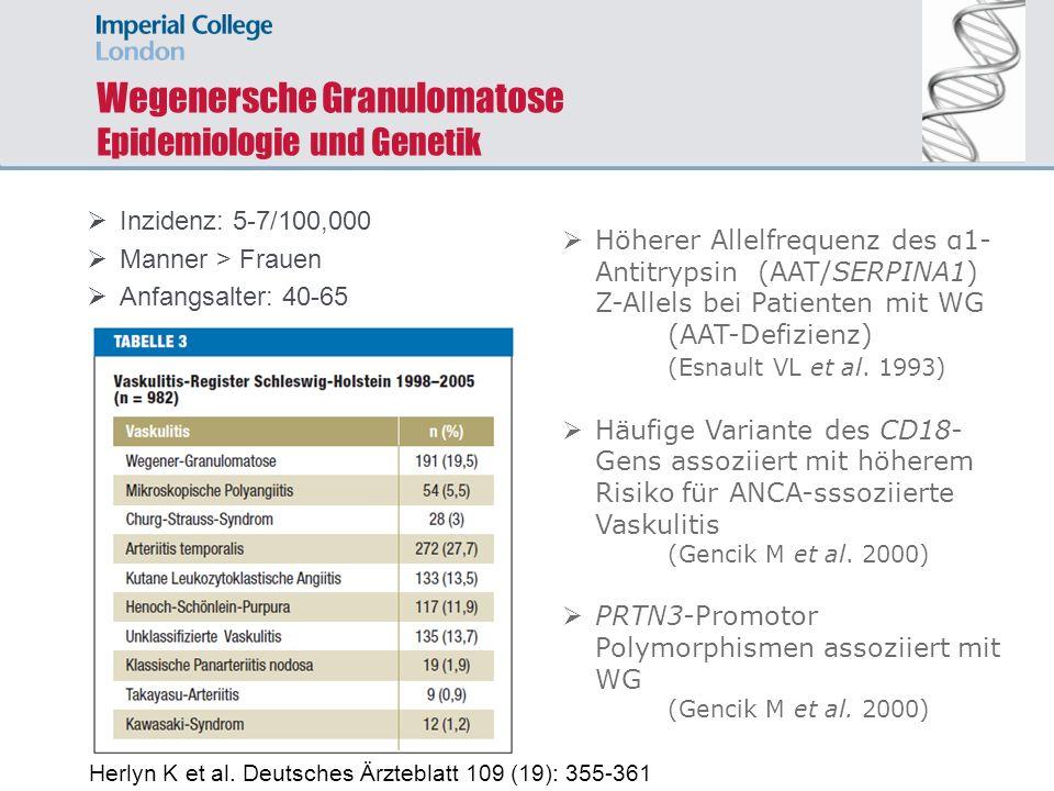Wegenersche Granulomatose Epidemiologie und Genetik