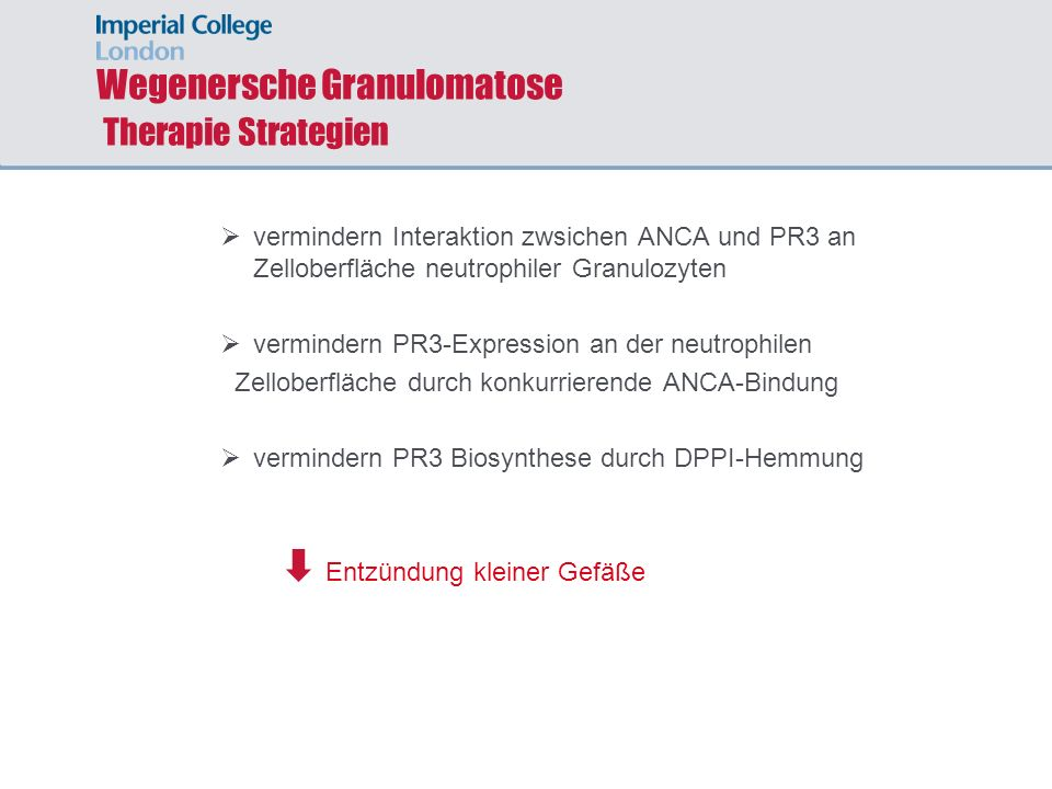 Wegenersche Granulomatose Therapie Strategien