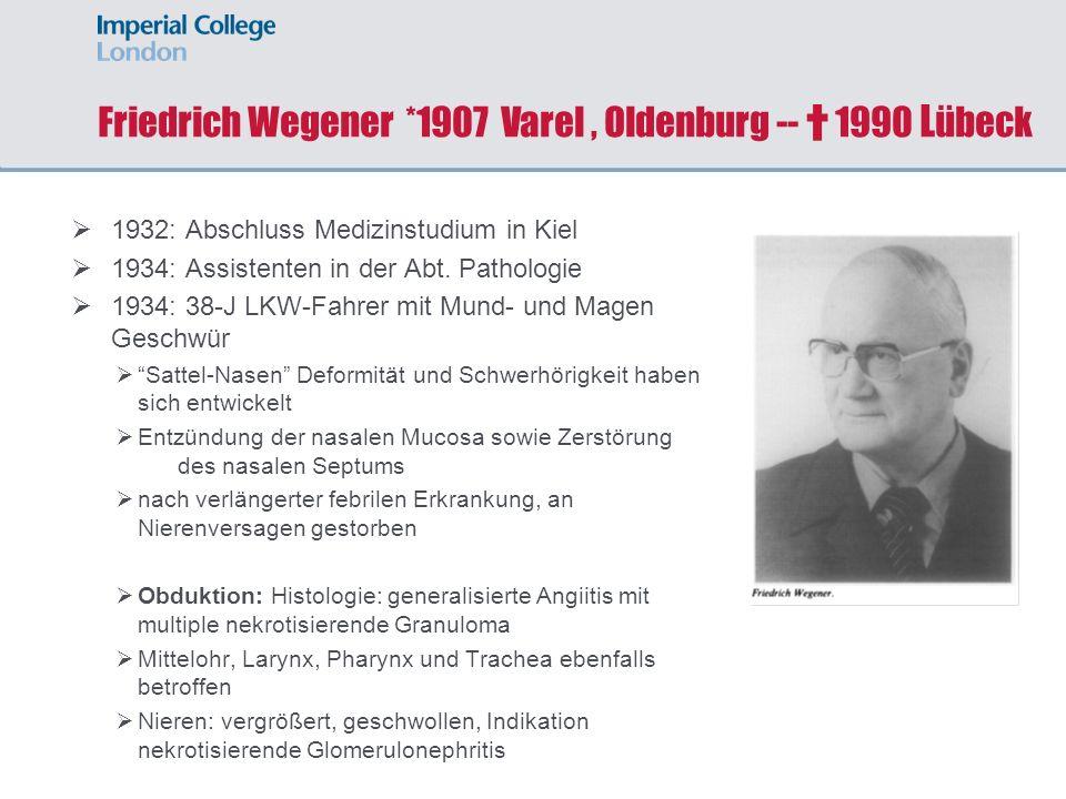Friedrich Wegener *1907 Varel , Oldenburg -- † 1990 Lübeck